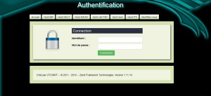 Formulaire authentification